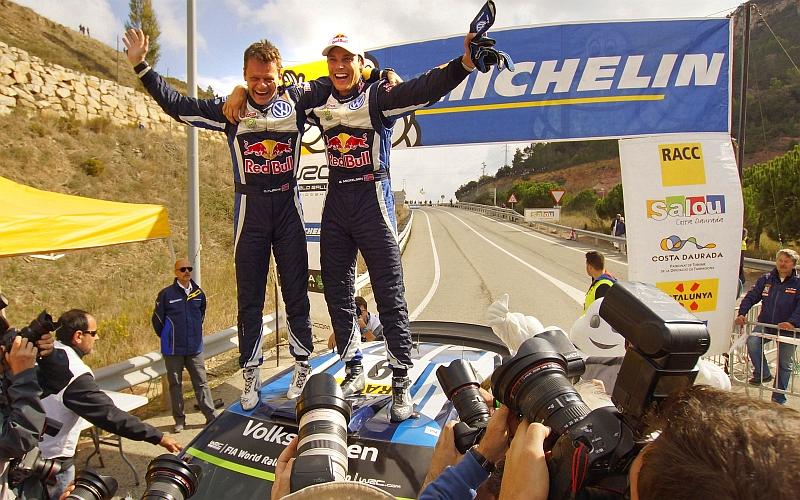 Viime vuonna Espanjan MM-rallin voittoa juhli Volkswagenin Andreas Mikkelsen (Kuva: Volkswagen Motorsport).