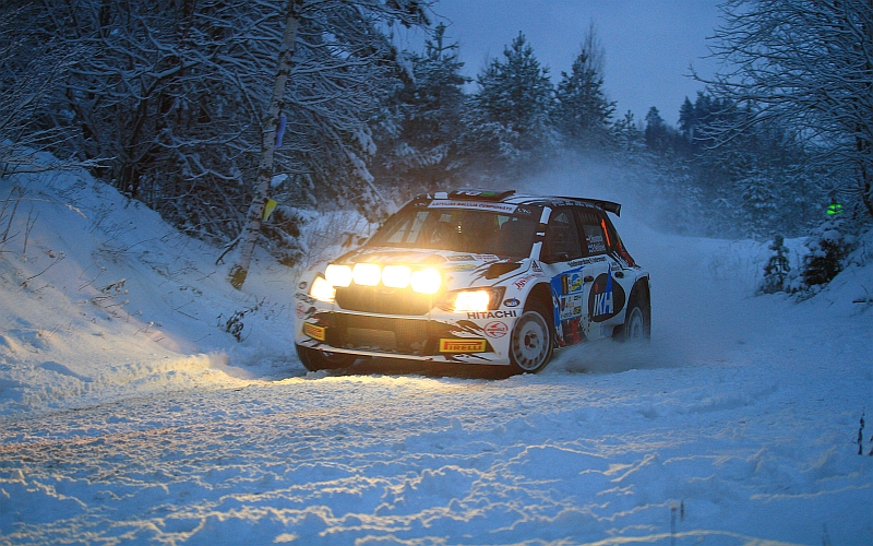 Lauantai-aamun avauksessa Rovanperä täräytti tuloslistalle 11 sekunnin pohjat (Kuva: Jari Nurminen).